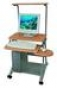 Personal computer desk DL-082LCD Silver